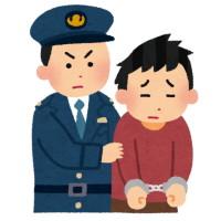 泥棒がついに警察に捕まる
