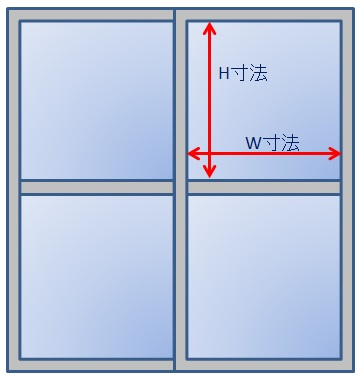 ガラスのカンタンな測り方