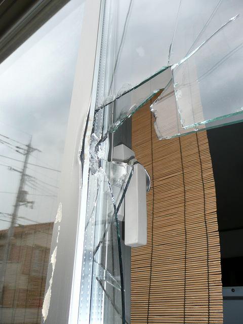 豊中市ペアガラス泥棒現場